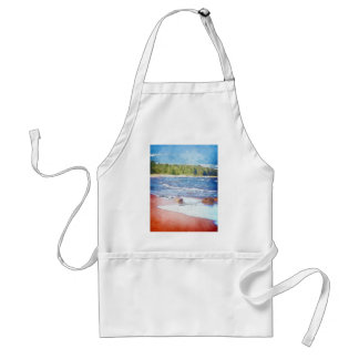 Water Colors And Sandy Shores Adult Apron