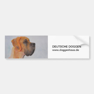 Water colors great dane fawn cards bumper sticker