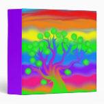 Water Colors Tree Art 3-Ring Binder