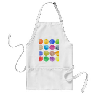 Water colour,big polka dot, funny,cute,girly,trend adult apron