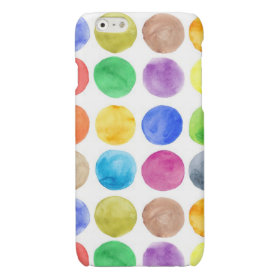 Water colour,big polka dot, funny,cute,girly,trend glossy iPhone 6 case
