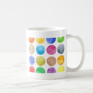 Water colour,big polka dot, funny,cute,girly,trend classic white coffee mug