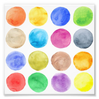 Water colour,big polka dot, funny,cute,girly,trend photo print