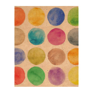 Water colour,big polka dot, funny,cute,girly,trend photo cork paper