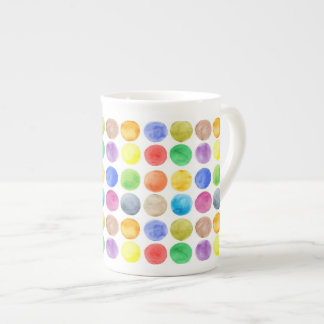 Water colour,big polka dot, funny,cute,girly,trend tea cup