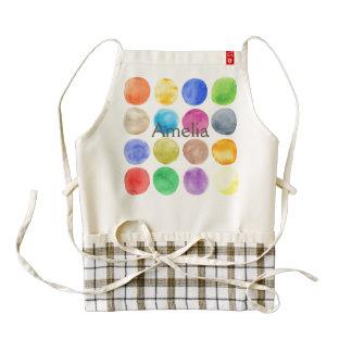 Water colour,big polka dot, funny,cute,girly,trend zazzle HEART apron