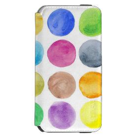 Water colour,big polka dot, funny,cute,girly,trend incipio watson™ iPhone 6 wallet case