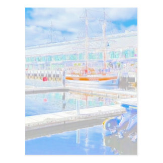 Water Colour Docks Postcard