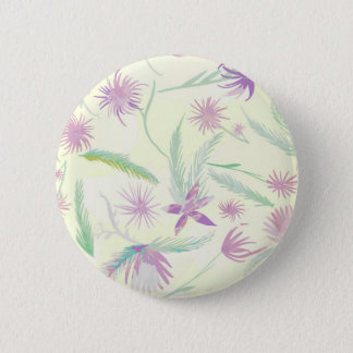 water colour pink palms pinback button