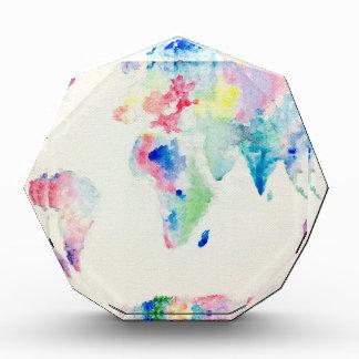 water colour world map award