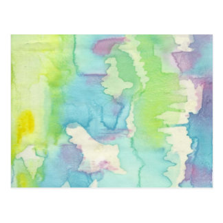 Water coloured waves postcard