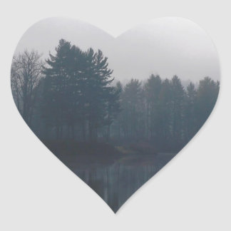 Water Connecticut River Heart Stickers