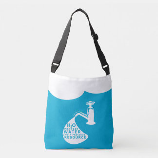 Water Conservation and Sustainablity Crossbody Bag