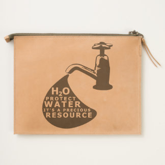Water Conservation and Sustainablity Travel Pouch