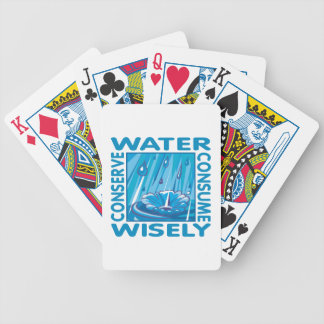 Water Conservation Bicycle Playing Cards