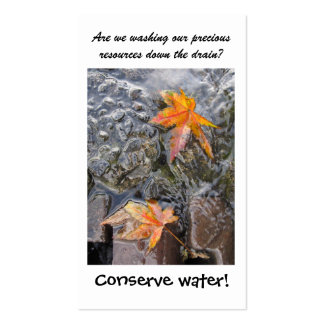 Water Conservation Bookmark Double-Sided Standard Business Cards (Pack Of 100)