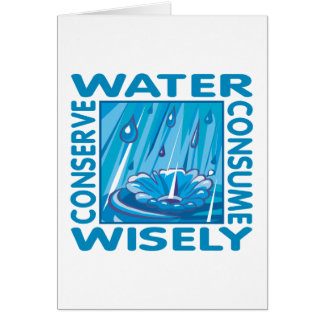 Water Conservation Card