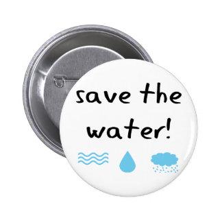 Water Conservation design! 2 Inch Round Button