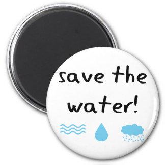 Water Conservation design! 2 Inch Round Magnet