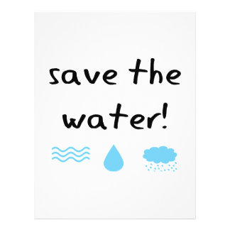 Water Conservation design! Flyer