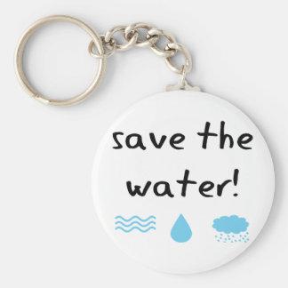 Water Conservation design! Keychain