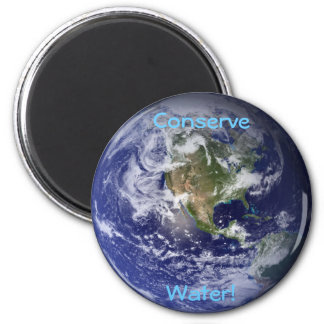 Water Conservation Eco Earth Magnet