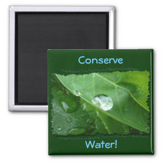 Water Conservation Eco Magnet