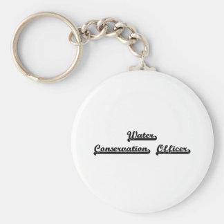 Water Conservation Officer Classic Job Design Basic Round Button Keychain