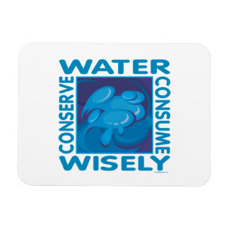 Water Conservation Rectangular Photo Magnet