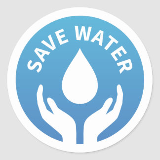 Water conservation / save water badge sticker