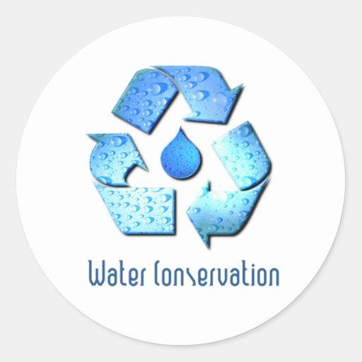 Water Conservation Sticker