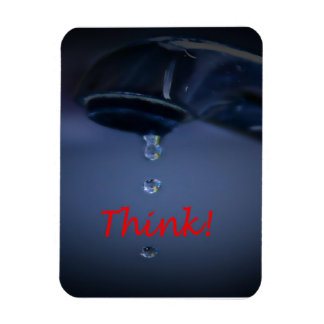 Water Conservation: Think! Rectangular Photo Magnet