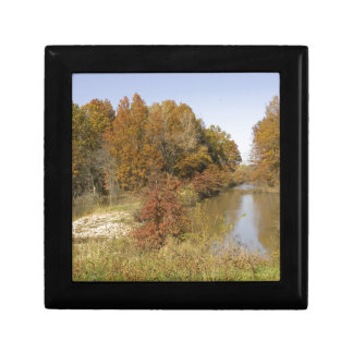 WATER CONTROL DAM AND AUTUMN TREES GIFT BOX