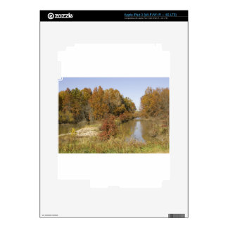 WATER CONTROL DAM AND AUTUMN TREES iPad 3 DECALS
