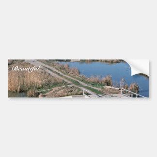 Water Control Structure, Bear River National Wildl Car Bumper Sticker