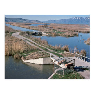 Water Control Structure, Bear River National Wildl Postcard