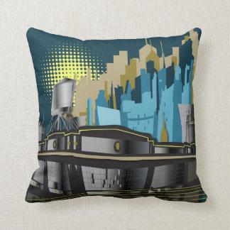 Water cooler City view Throw Pillow