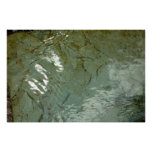 Water-Covered Rock Slab Abstract Nature Photo Poster