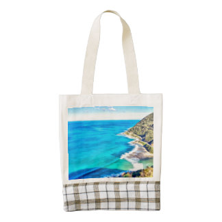 Water crashing into hills zazzle HEART tote bag