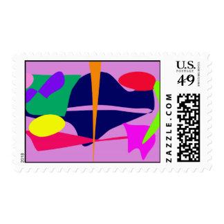 Water Creature Deep Mauve Postage Stamp