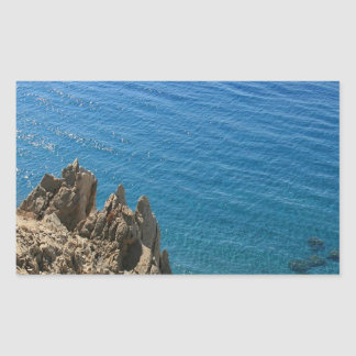 Water Crystal Clear Seashore Rectangular Sticker