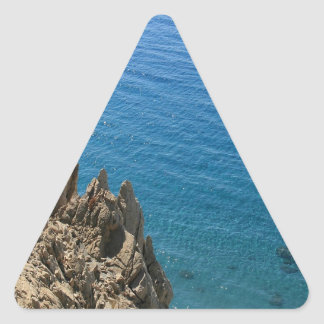 Water Crystal Clear Seashore Triangle Stickers
