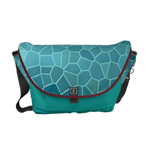 Water Crystals Messenger Bags