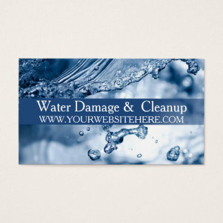 Water Damage Service and Cleanup Business Card