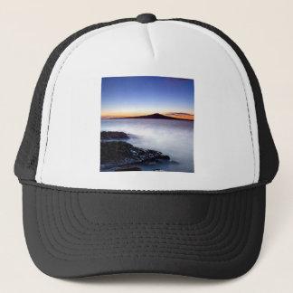 Water Dawn Approaches Misty Sea Trucker Hat