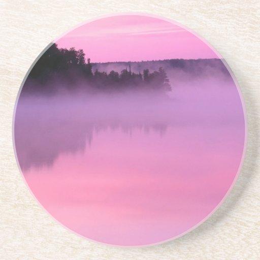 Water Dawn On Ensign Lake Coasters