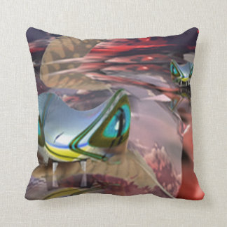Water Demons Throw Pillows