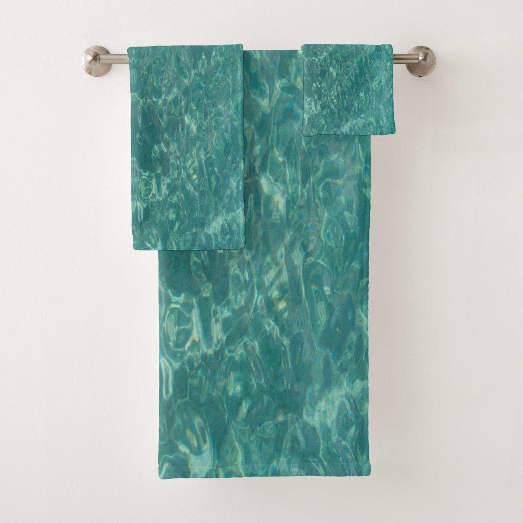 Water Design In Caribbean Sea Bath Towel Set