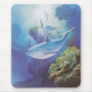 Water Dolphin Mouse Pad