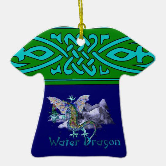 Water Dragon Ceramic Ornament